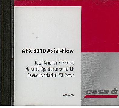 Case IH Combine AFX8010 Axial Flow Workshop Service Repair Manual on Disc